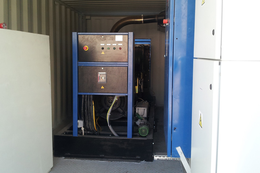 Instalare generator in container