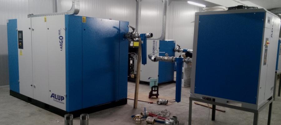 Compresoare aer cu surub si cu piston industriale