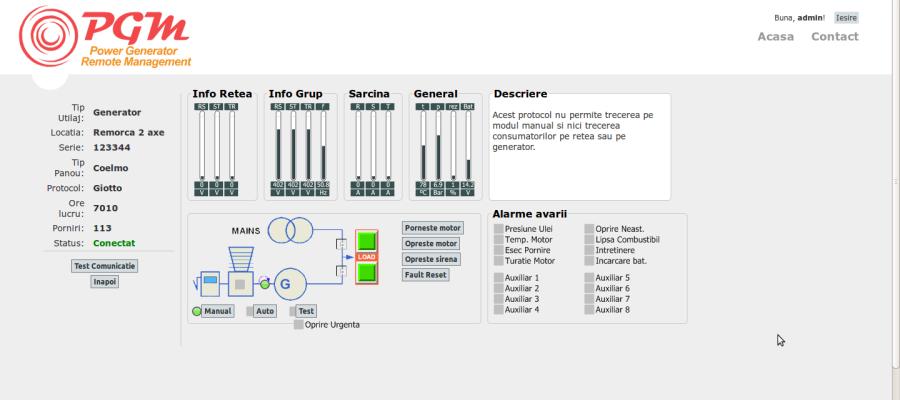 Dispecerat monitorizare si control la distanta a echipamentelor industriale